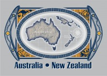 Australia-New Zealand Topical Map